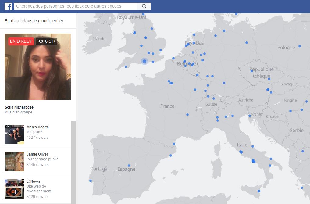 Facebook en direct