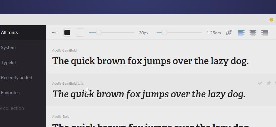 FontBase, Un gestionnaire de typographies