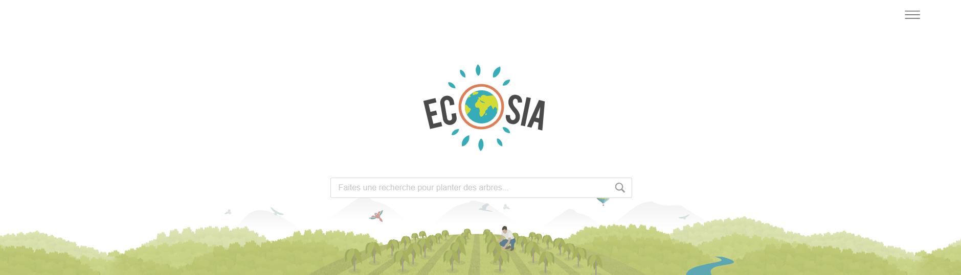 Ecosia le moteur de recherche qui plante des arbres mrweb for Recherche plante