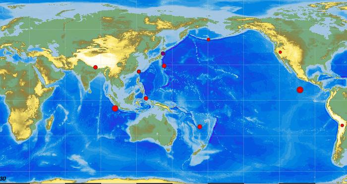 Les tremblements de terre en temps réel