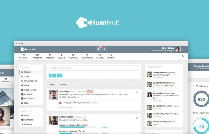 HumHub, un réseau social open-source