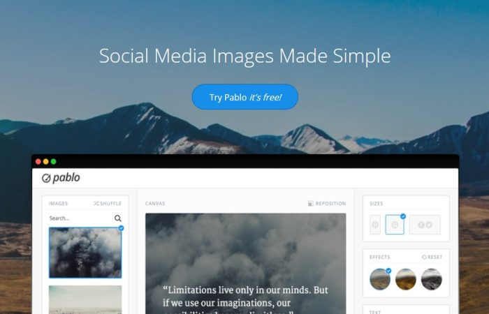 Pablo 2.0, créer des images pour vos réseaux sociaux