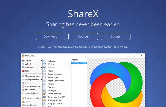 ShareX, le couteau suisse des captures d'écran