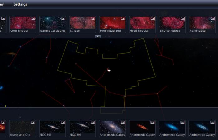 Naviguer au milieu des étoiles et galaxies !